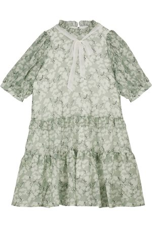paade mode Floral cotton and silk dress