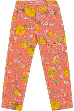 ERL Kids Floral stretch-cotton corduroy pants