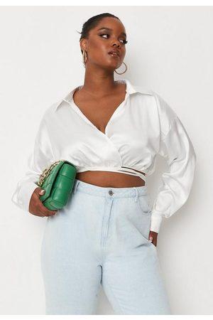 Missguided Plus Size Satin Wrap Around Shirt