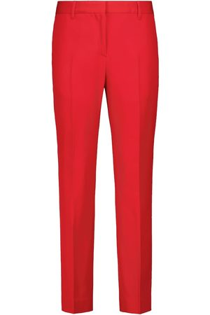 Burberry Women Straight Leg Pants - High-rise straight virgin wool pants