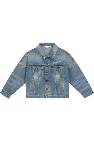 Palm Angels Kids Kids Denim Jackets - Logo denim jacket