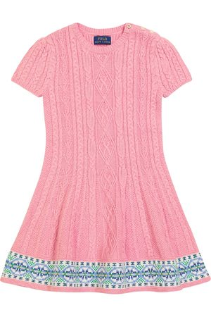 Polo Ralph Lauren Kids Baby Knitted Dresses - Cable-knit cotton and wool sweater dress