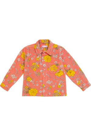 ERL Kids Shirts - Floral stretch-cotton corduroy shirt