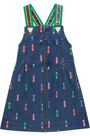 STELLA McCARTNEY Kids Printed denim overall dress