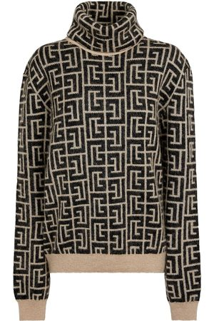 Balmain Monogram wool and mohair-blend sweater