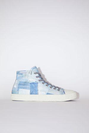 Acne Studios Ballow High Print Denim M /off white Canvas sneakers