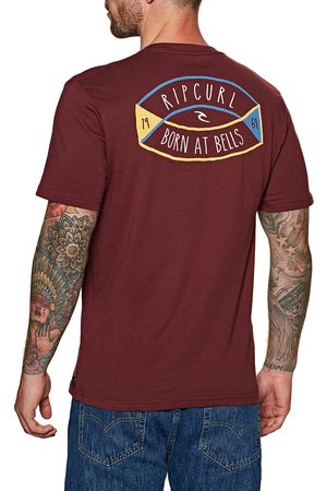 Rip Curl Men Short Sleeve - D'ams s Short Sleeve T-Shirt - Maroon
