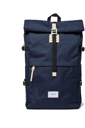 Sandqvist Luggage - Bernt Backpack - Navy With Natural Leather
