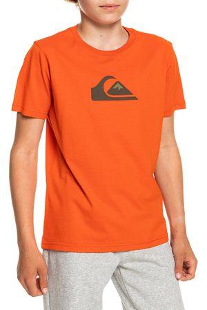 Quiksilver Comp Logo Boys Short Sleeve T-Shirt - Pureed Pumpkin