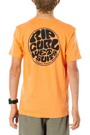 Rip Curl Boys Short Sleeve - Wettie Essential Boys Short Sleeve T-Shirt - Washed Peach