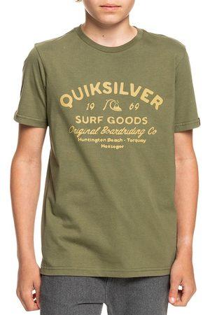 Quiksilver Closed Captions Boys Short Sleeve T-Shirt - Four Leaf Clover