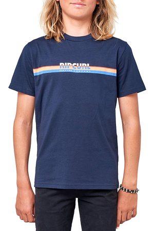 Rip Curl Mama Horizon Boys Short Sleeve T-Shirt - Navy