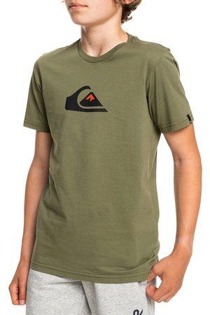 Quiksilver Comp Logo Boys Short Sleeve T-Shirt - Four Leaf Clover