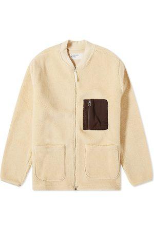 Universal Works Men Fleece Jackets - Sherpa Fleece Zip Jacket