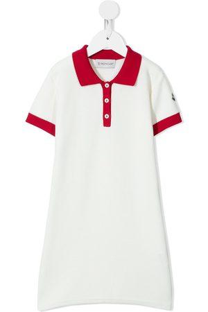 Moncler Girls Casual Dresses - Logo patch polo dress
