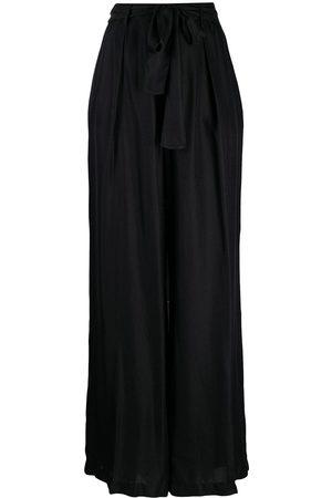 FORTE FORTE Women Wide Leg Pants - Wide-leg jacquard trousers