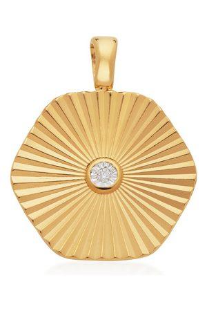 Monica Vinader Women Necklaces - Gold Disco Diamond Pendant