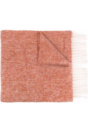 Nina Ricci Women Scarves - Embroidered-logo fringed-edge scarf