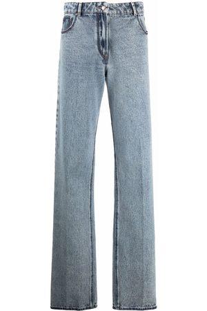 Nina Ricci Wide-leg acid-wash jeans