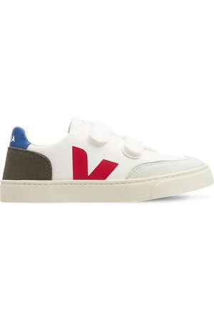Veja Leather & Faux Suede Strap Sneakers