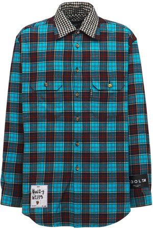 COOL Cotton Oversize Reversible Check Shirt