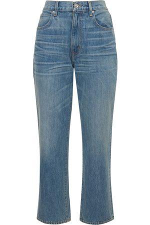 SLVRLAKE Women High Waisted - London High Rise Straight Jeans