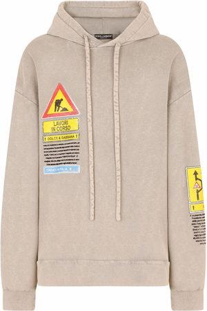 Dolce & Gabbana Road sign-print hoodie - Neutrals