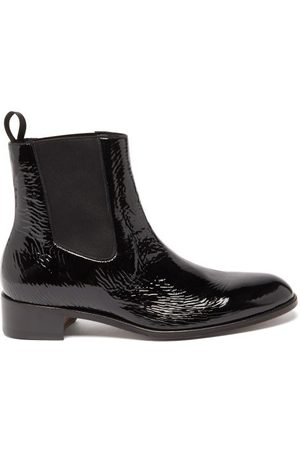 Tom Ford Patent-leather Chelsea Boots - Mens