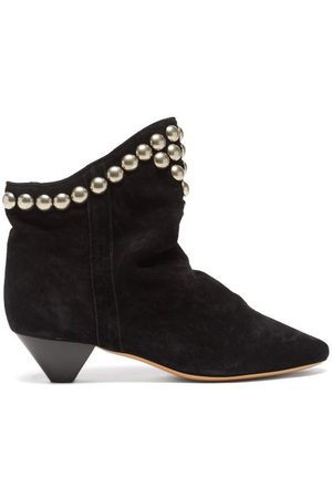Isabel Marant Doey Studded Suede Ankle Boots - Womens