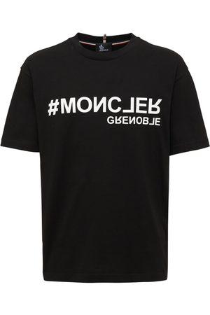 MONCLER GRENOBLE Men T-shirts - Logo Printed Cotton Jersey T-shirt