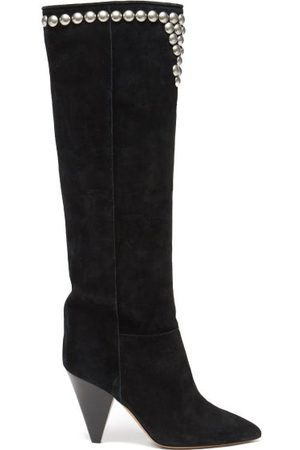 Isabel Marant Libree Studded Suede Knee-high Boots - Womens