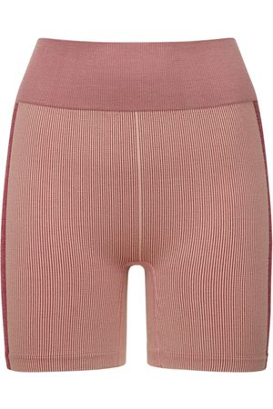 The Upside Circular Knit High Waist Midi Shorts