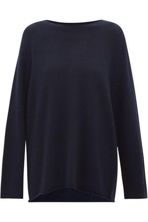 Lisa Yang Taylor Oversized Boat-neck Cashmere Sweater - Womens - Navy