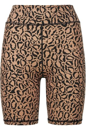 The Upside Leopard Print Spin Shorts