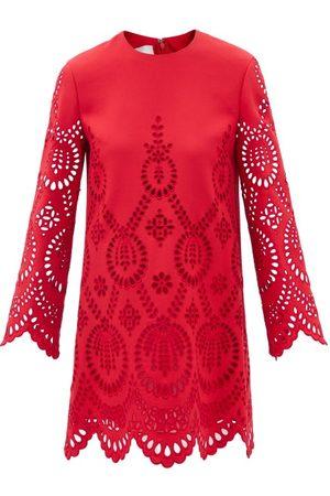 VALENTINO Cutout Wool-blend Dress - Womens