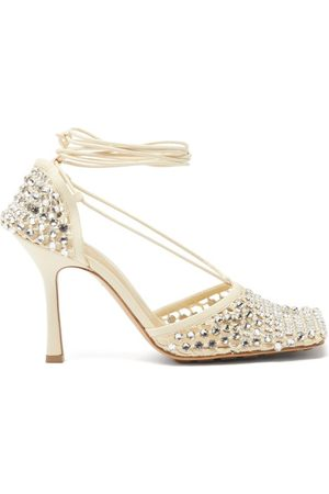 Bottega Veneta Women Heels - Sparkle Stretch Leather And Mesh Pumps - Womens