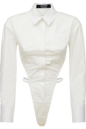 Jacquemus Women Bodies - La Chemise Body Stretch Shirt Bodysuit