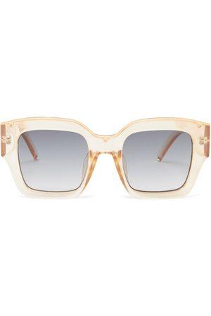 Le Specs Hypnos Square Acetate Sunglasses - Womens - Sand