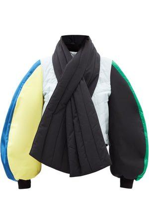 Loewe Women Bomber Jackets - Colour-block Balloon-sleeve Bomber Jacket - Womens - Multi