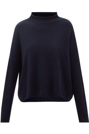 Lisa Yang Sandy Cowl-neck Cashmere Sweater - Womens - Navy