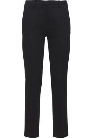 LARDINI Women Stretch Pants - Tino Stretch Cotton Gabardine Pants