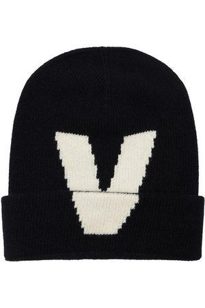VALENTINO GARAVANI V Intarsia Wool Knit Beanie