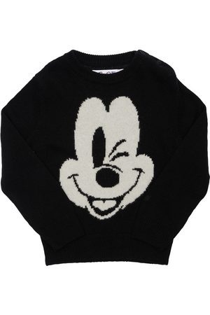 MC2 SAINT BARTH Mickey Mouse Wool Blend Knit Sweater