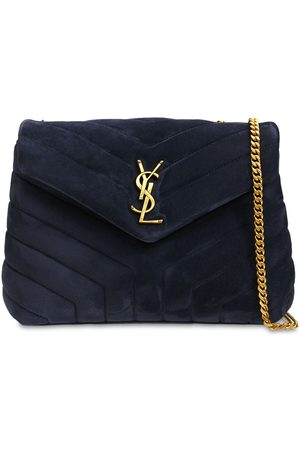 Saint Laurent Women Shoulder Bags - Small Loulou Monogram Quilted Suede Bag