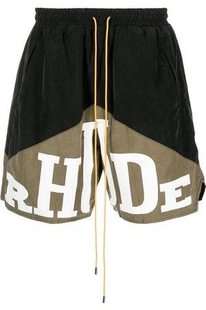 Rhude Men Shorts - Yachting logo-print shorts