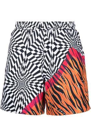 Vans Men Bermudas - X Aries distorted-print shorts - Multicolour