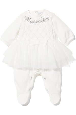 Monnalisa Bodysuits & All-In-Ones - Rhinestone-embellished tutu babygrown