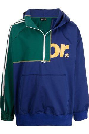 Kolor Colour-block half-zip hoodie