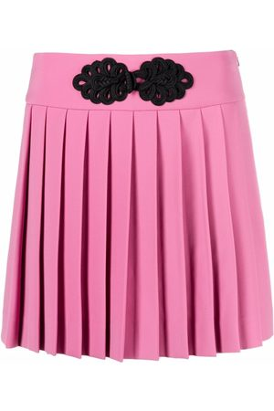 Moschino Women Pleated Skirts - Cady embroidered-frog pleated skort