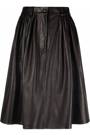 Moschino Leather A-line skirt